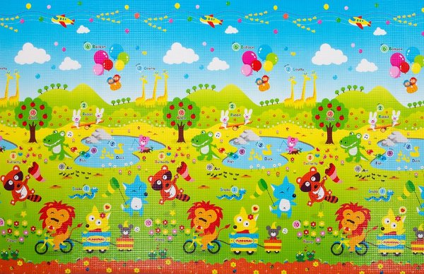 Tapete Infantil Proby PE Fun Animal 200cm x 150cm x 1,7cm