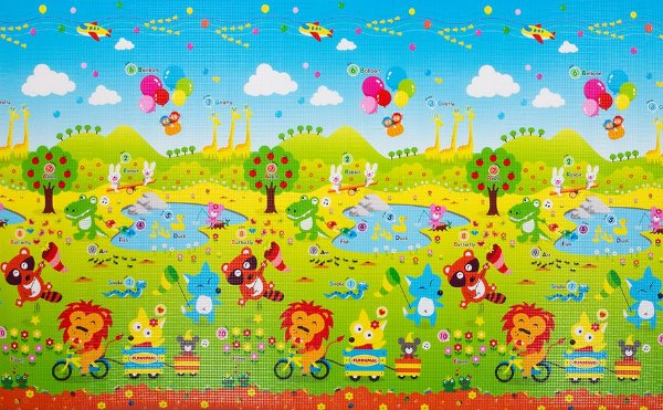 Tapete Infantil Proby PE Fun Animal 230cm x 150cm x 1,7cm