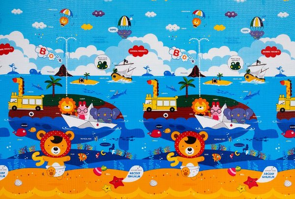 Tapete Infantil Proby PE Animal Friends 230cm x 150cm x 1,7cm