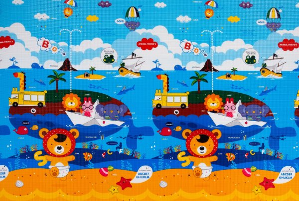 Tapete Infantil Proby PE Animal Friends 200cm x 150cm x 2,2cm