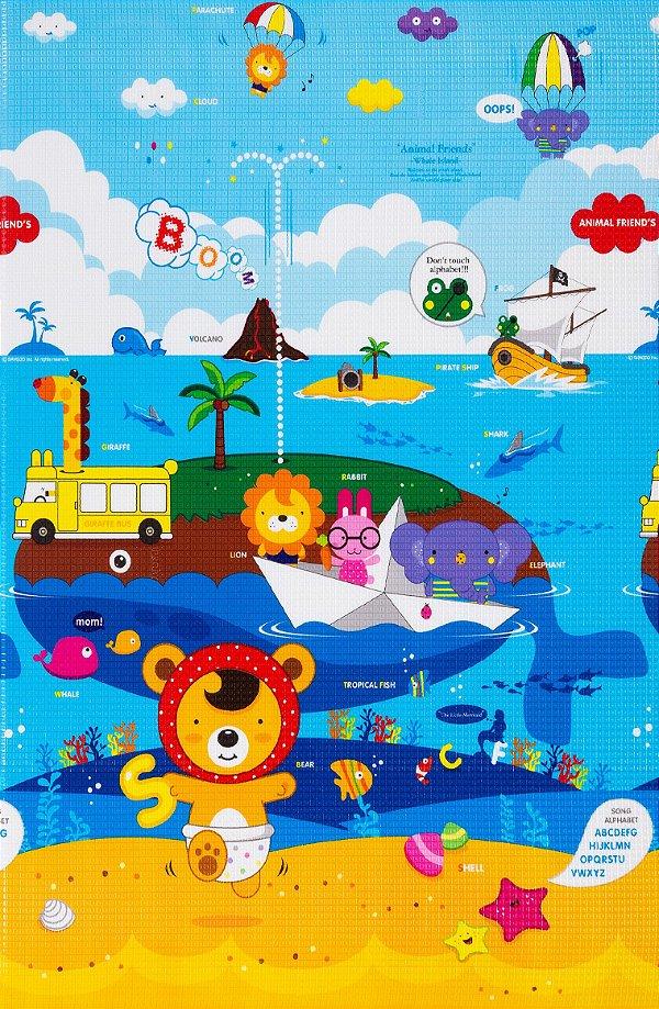 Tapete Infantil Proby PE Animal Friends 100cm x 150cm x 1,2cm