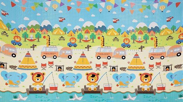 Tapete Infantil Proby PE Camping 230cm x 150cm x 1,7cm