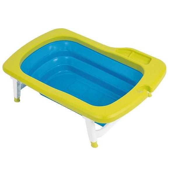 Banheira Dobrável Mathos Loreley Verde e Azul