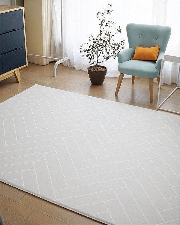 Tapete Dupla Face Decoração Parklon PVC Premium Herringbon Grey 190cm x 130cm x 1,2cm