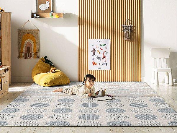 Tapete Dupla Face Decoração Parklon PVC Premium Blue Spot 190cm x 130cm x 1,2cm