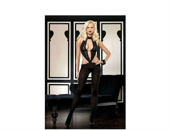 Body Preto - Luxo com Renda - Leg Avenue