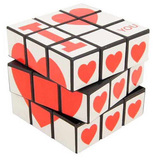 Cubo Mágico com Dizeres Românticos - I LOVE YOU