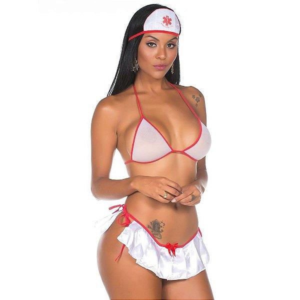 Fantasia Enfermeira Sexy - Tamanho Único - Coleção Castelo