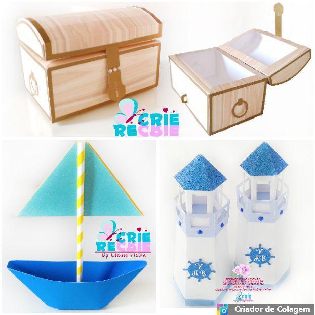 Kit Decorativo Fundo do Mar - 03 Peças