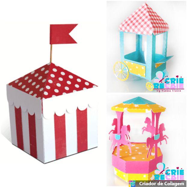 Kit Decorativo Circo01 - 03 Peças