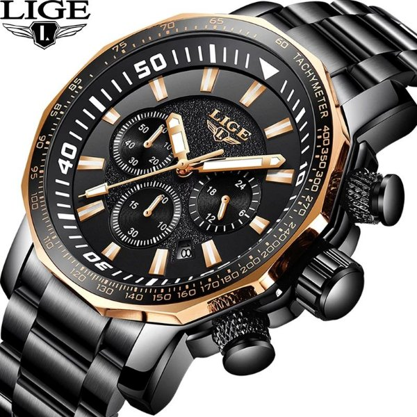 Relógio Lige 9871 Masculino Esporte Militar