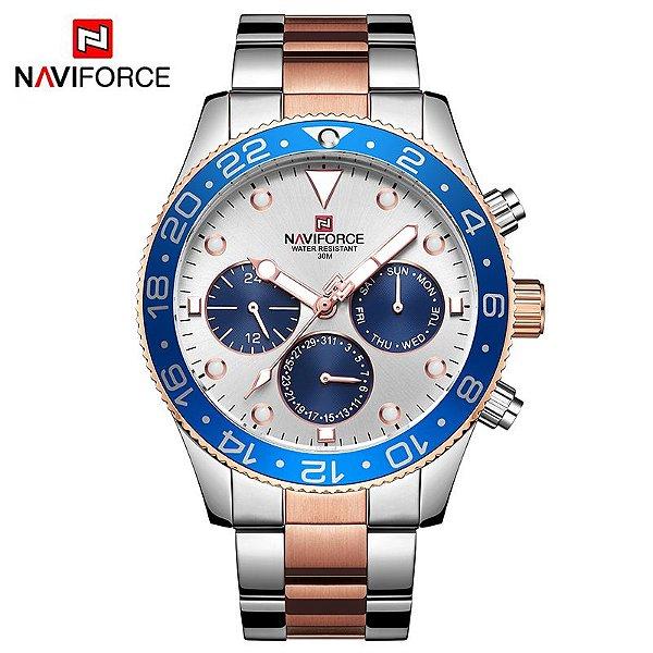Relógio Naviforce NF9147SRG Luxo