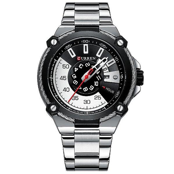 Relógio Masculino Curren 8345 Social Esporte