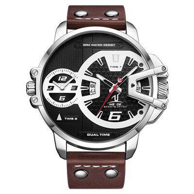 Relógio Super Esporte Weide UV1702 Pulseira de Couro