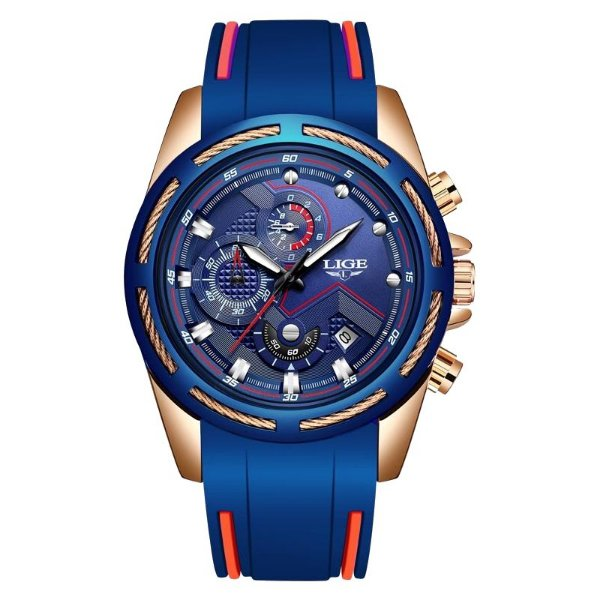 Relógio LiGE 9957 Esporte 3 Cores Disponíveis