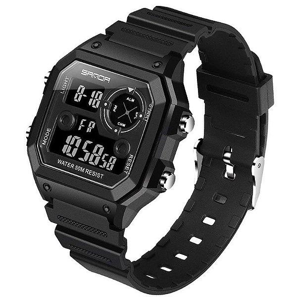 Relógio Digital Esporte Sanda 418
