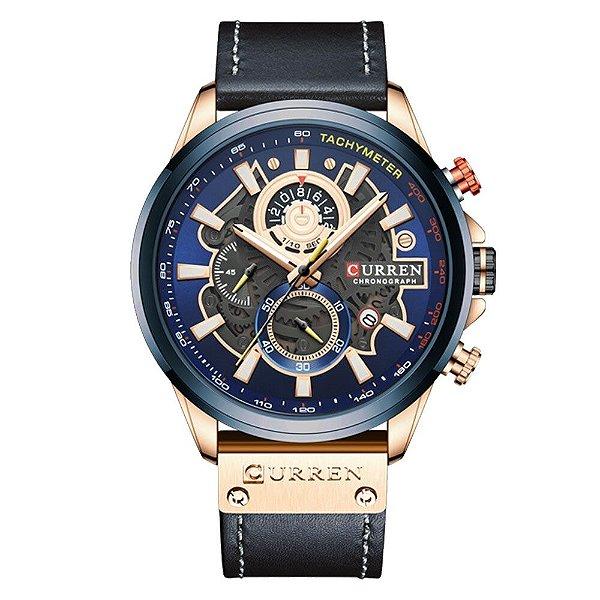Relógio Design Criativo Esporte Curren 8380