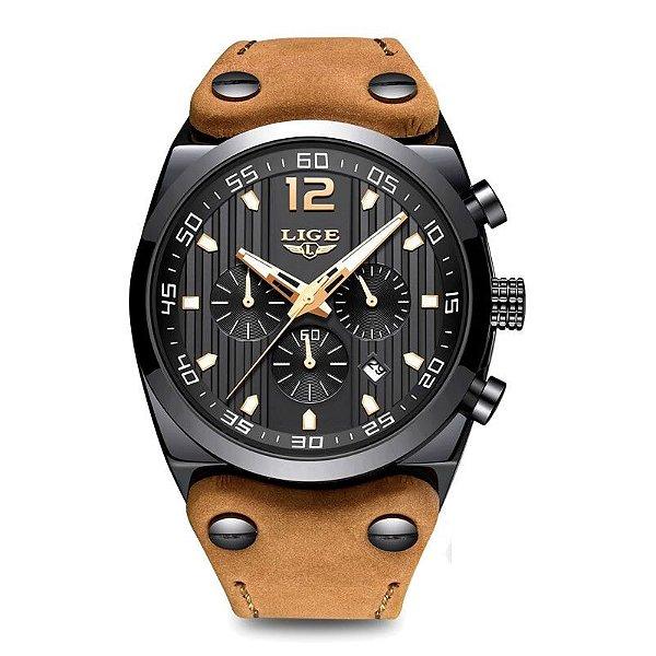 Relógio Masculino Pulseira em Couro 9890