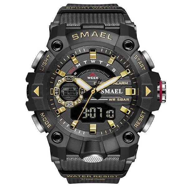 Relógio Militar Esportivo Display Duplo SL-8040 50m
