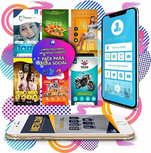 Pack Cartão de Visita Digital Interativo + Bônus