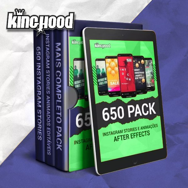 Pack com 650 Stories Animados para Instagram