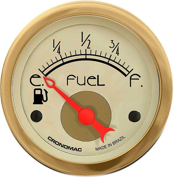Indicador Nível de Combustível ø52mm 097 Hot Gold | Cronomac