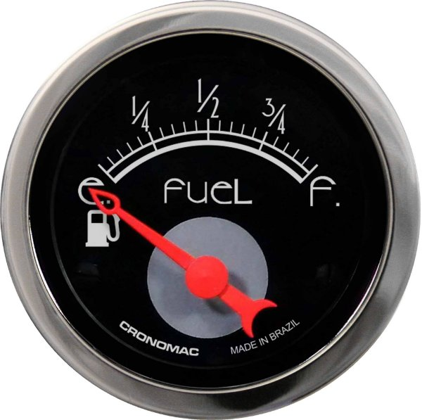 Indicador Nível de Combustível ø52mm 097 Hot Black| Cronomac