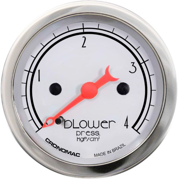 Manômetro Turbo 4KGF/CM² ø52mm Hot Silver | Cronomac