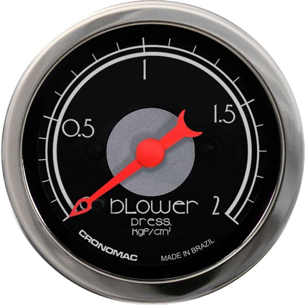 Manômetro Turbo 2KGF/CM² ø52mm Hot Black | Cronomac