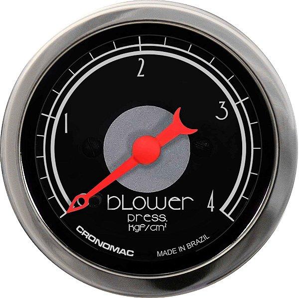 Manômetro Turbo 4KGF/CM² ø52mm Hot Black | Cronomac