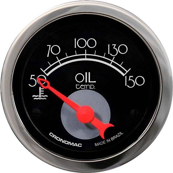 Termômetro Óleo ø52mm 12V com Sensor Hot Black | Cronomac