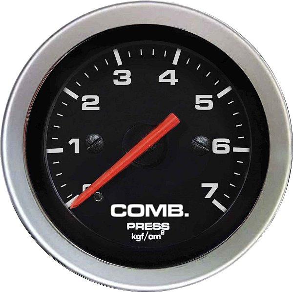 Manômetro Combustível 7KGF/CM² ø52mm Sport   Cronomac