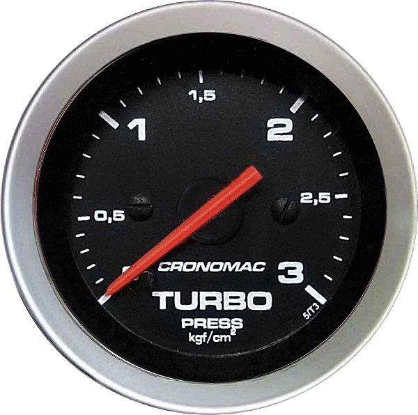 Manômetro Turbo 3KGF/CM² ø52mm Sport   Cronomac