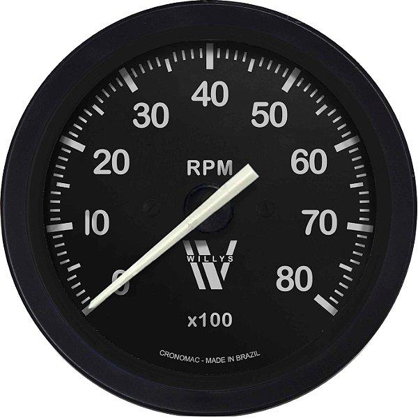 Contagiro 8000RPM ø85mm 4/6 Cil Gasolina Willys | Cronomac