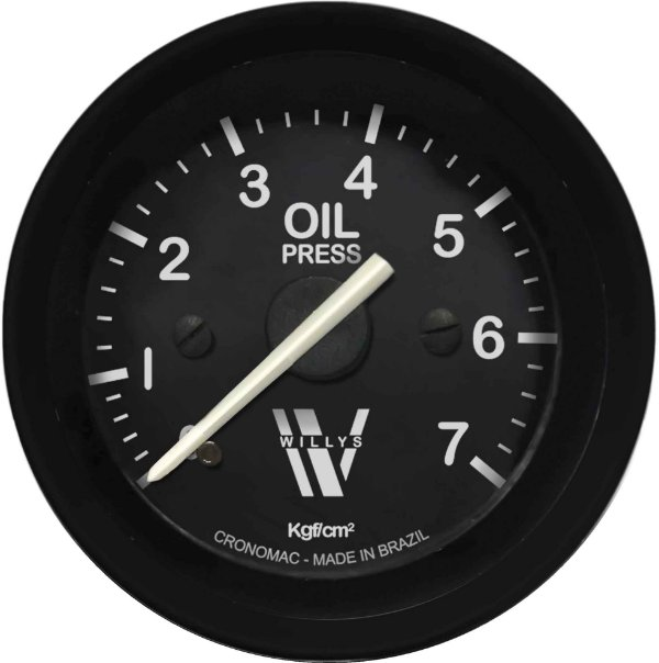 Manômetro Óleo 7KGF/CM² Mecânico ø52mm Willys   Cronomac