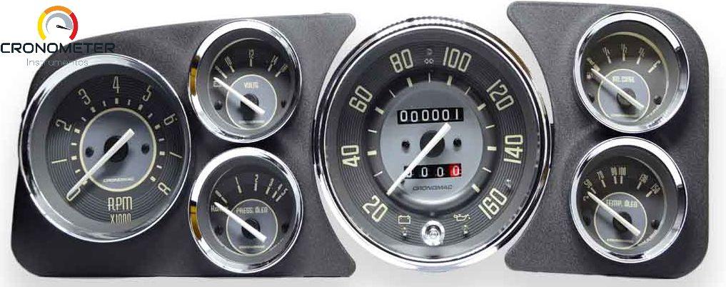 Painel Fusca 160km/h Cronomac Completo com Sensor e Boia de Braço - Bege