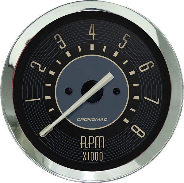 Contagiro 8000RPM ø100mm 2/4/6/8 Cil Fusca Bege | Cronomac