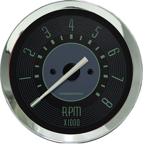 Contagiro 8000RPM ø85mm 2/4/6/8 Cil Fusca Verde| Cronomac