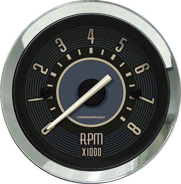 Contagiro 8000RPM ø52mm 2/4/6/8 Cil Fusca Bege | Cronomac