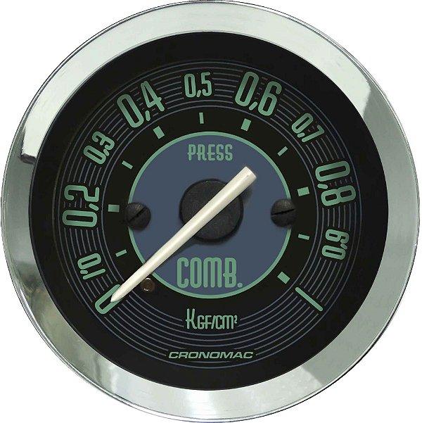Manômetro Combustível 1KGF/CM² ø52mm Fusca Verde | Cronomac