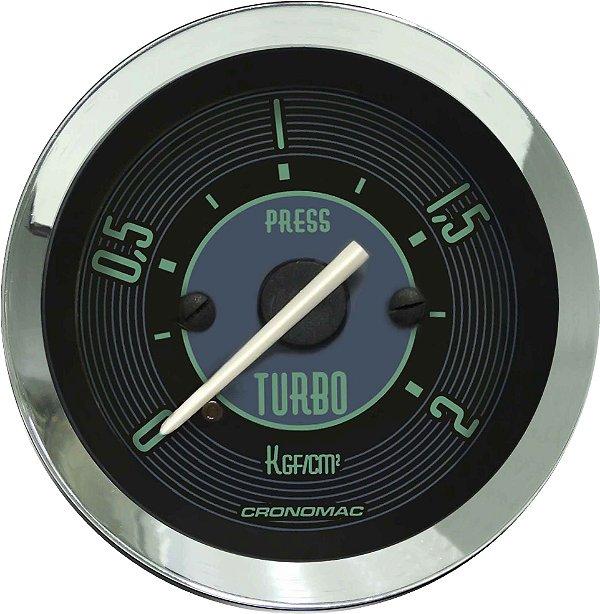 Manômetro Turbo 2KGF/CM² ø52mm Fusca Verde | Cronomac