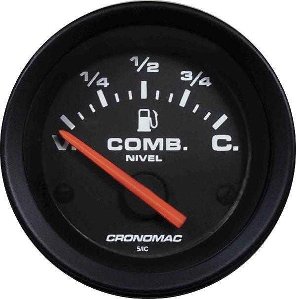 Indicador Nível de Combustível ø52mm 097 Street/Preto   Cronomac