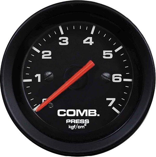 Manômetro Combustível 7KGF/CM² ø52mm Street/Preto   Cronomac