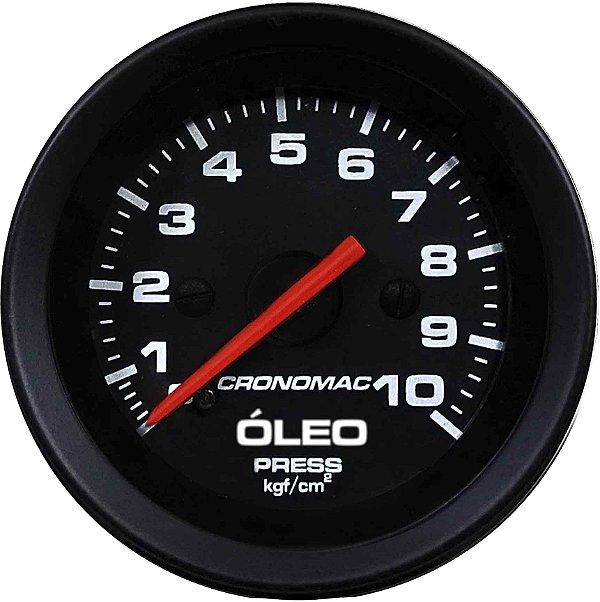Manômetro Óleo 10KGF/CM² Mecânico ø52mm Street/Preto | Cronomac