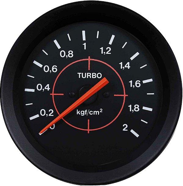 Manômetro Turbo F1000 2KGF/CM² ø100mm Street/Preto  Cronomac