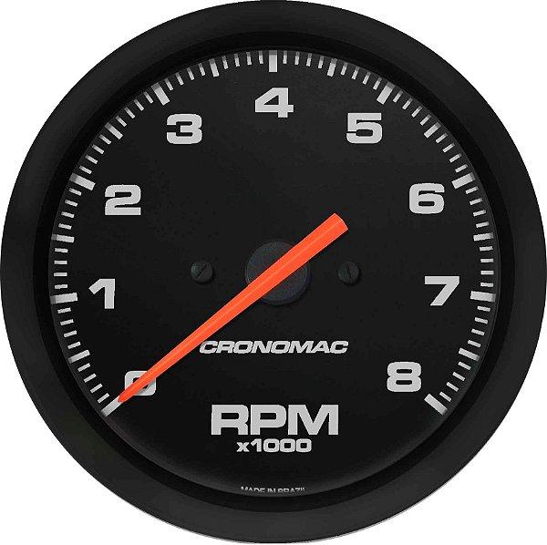 Contagiro 8000RPM ø85mm Gasolina Ajuste Street/Preto| Cronomac