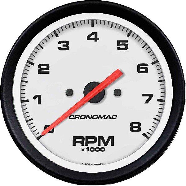 Contagiro 8000RPM ø85mm Gasolina Ajuste Street/Branco | Cronomac