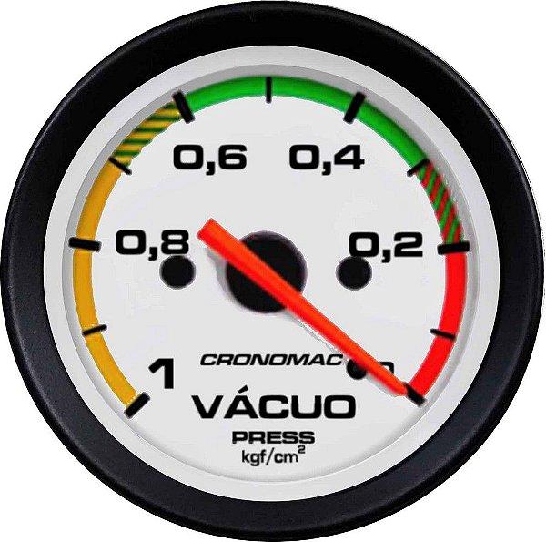 Vacuômetro Com Faixa ø52mm Street/Branco   Cronomac