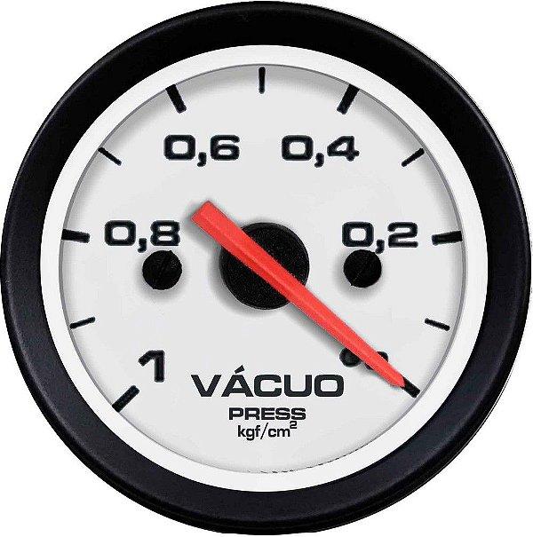 Vacuômetro Sem Faixa ø52mm Street/Branco| Cronomac