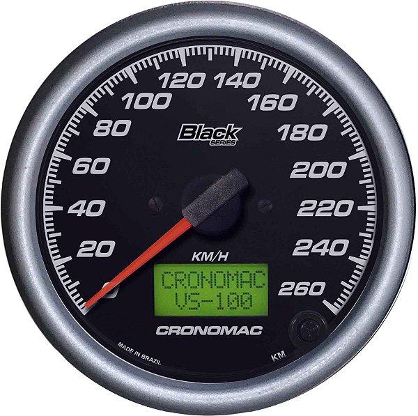Velocímetro 260km/h ø100mm Eletrônico Black Series | Cronomac